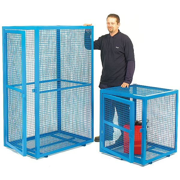Blue Security Cages