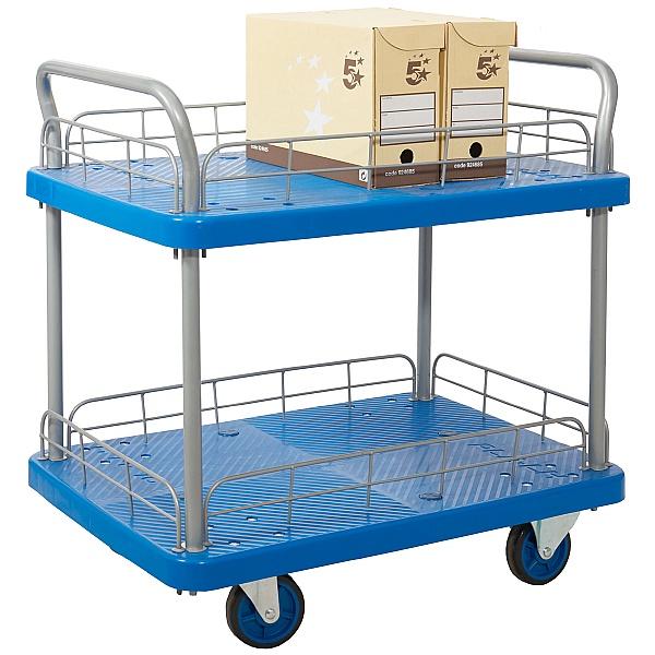 2 Shelf Trolley With Wire Surround