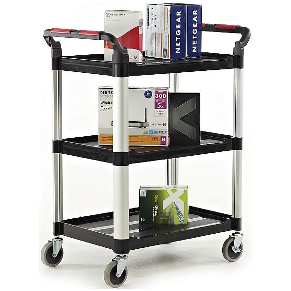 Proplaz Black 3 Shelf Trolley