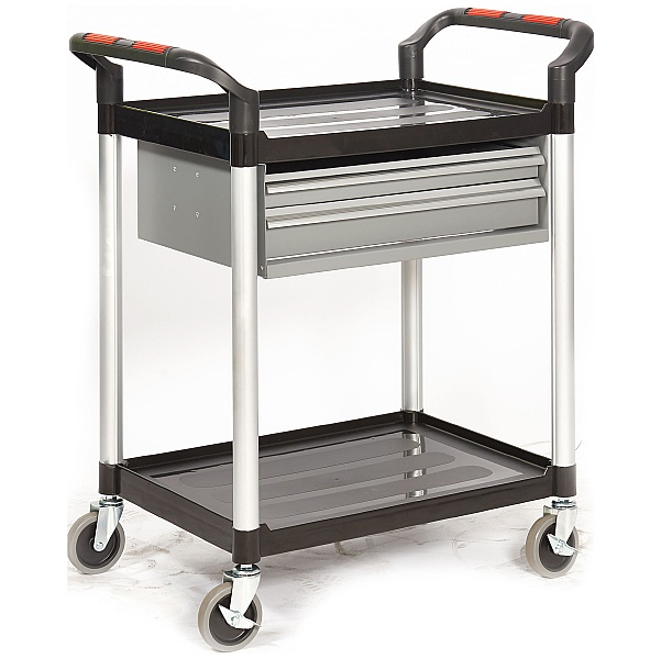 Proplaz 2 Shelf Trolley With Drawers