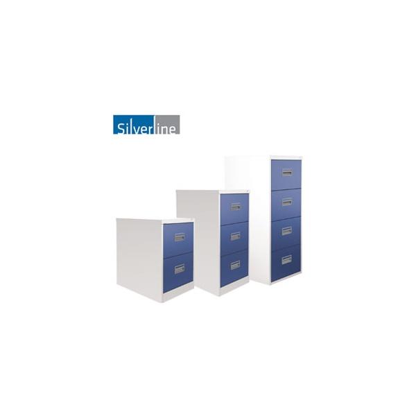 Silverline Two Tone Midi Filing Cabinets