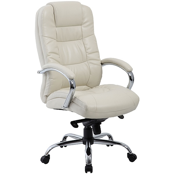 Verona Cream Executive Leather Office Chair