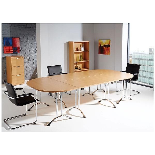 Commerce II Semi Circular Folding Tables