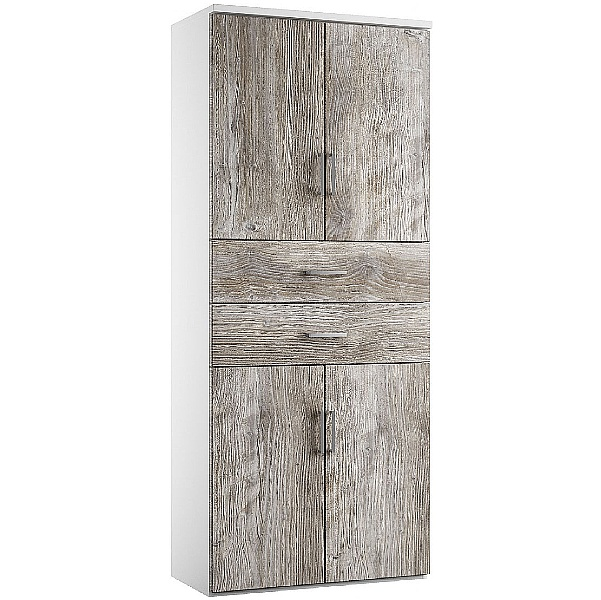 NEXT DAY Concept Twin Double Door Combination Cupboards With Drawers