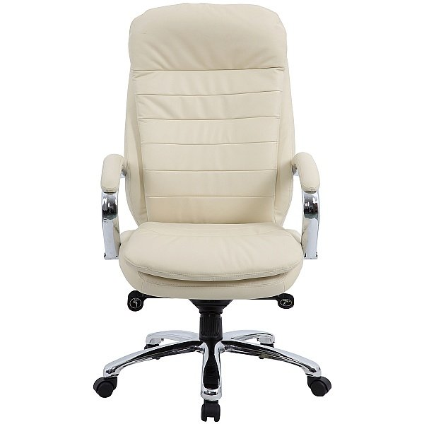 Siena Leather Executive Office Chair Cream