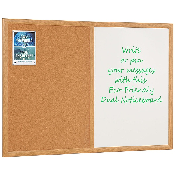 Eco-Friendly Cork Dual Noticeboards