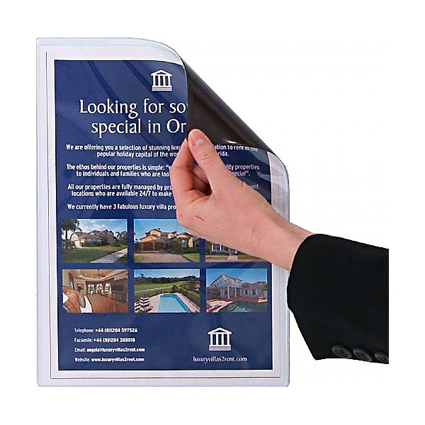 Magnetic Clear Pocket Leaflet Holder
