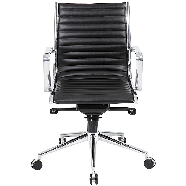 Abbey Medium Back Designer Leather Office Chair