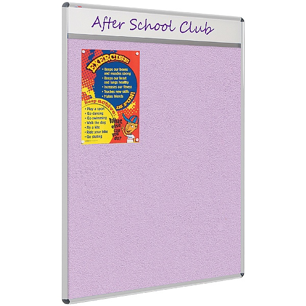 ColourPlus Themeboard Aluminium Frame Shield Noticeboards