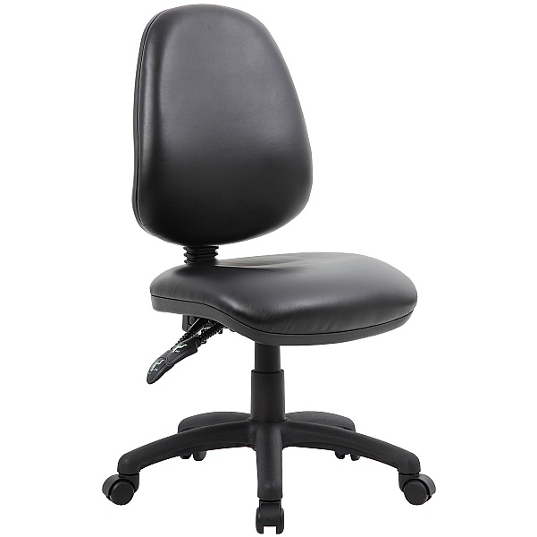 Comfort 2-Lever Leather Operator Chairs