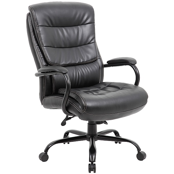 Citadel Bariatric 27 Stone 24 Hour Leather Faced Manager Chair
