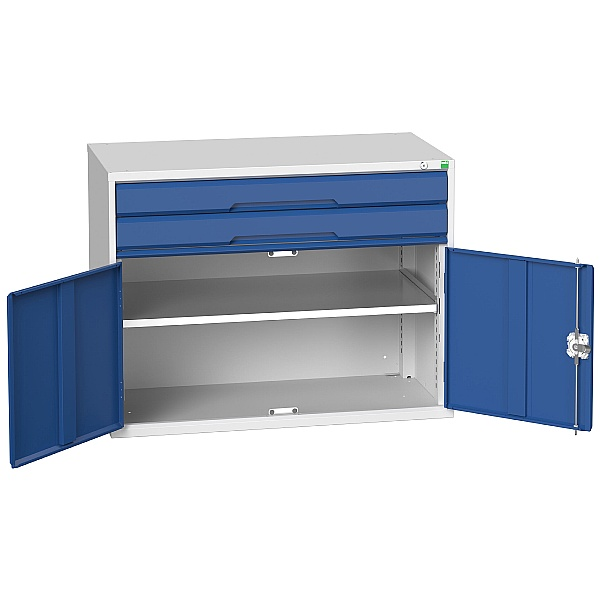 Bott Verso Drawer Cabinets - 1050mm Wide x 800mm High - 2 Drawers With Cupboard
