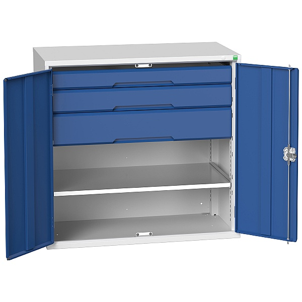 Bott Verso Kitted Cupboard 1050W 1 Shelf and 3 Drawers