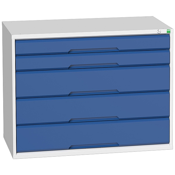 Bott Verso Drawer Cabinets - 1050mm Wide x 800mm High - 5 Drawers