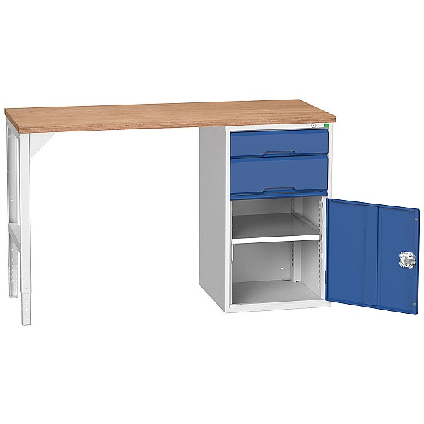 Bott Verso Pedestal Benches - 525mm Pedestal With Cupboard & 2 Drawers