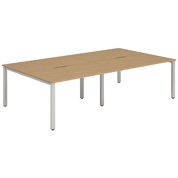 NEXT DAY InterAct Sliding Top Back to Back 4 Person Bench Desk