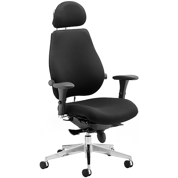 Vital 24Hr Ergonomic Plus Fabric Chair With Headrest