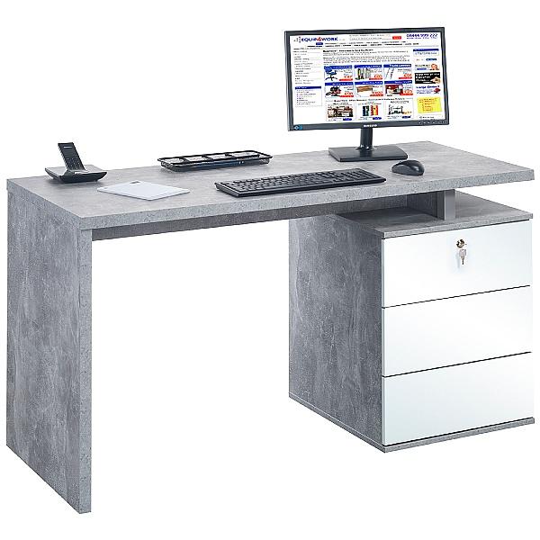 Vesta Concrete Grey Laptop Desk