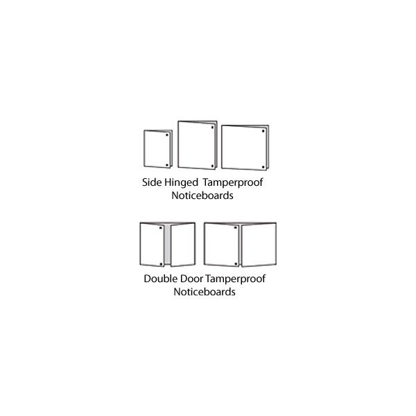 Tamperproof Aluminium Framed Noticeboard