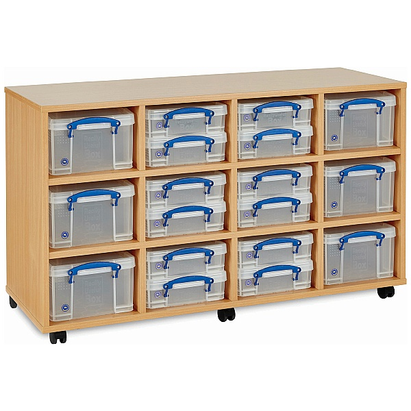 Really Useful Box Combination Storage Unit 12 x 4L / 6 x 9L