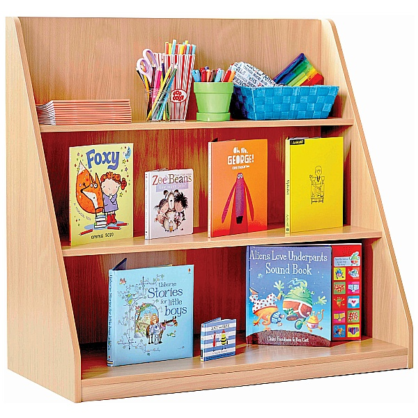 Library Unit With 3 Fixed Straight Shelves