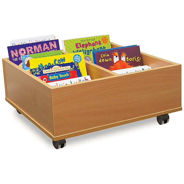 4 Bay Kinderbox Book Storage With Castors