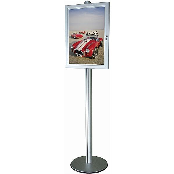 Freestanding Tamperproof Compact Poster Case