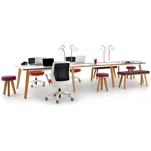 Martin Bench Desks - 4 Person