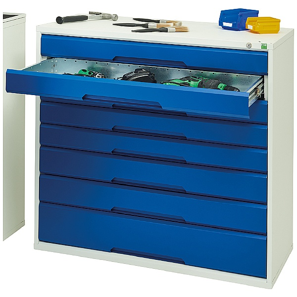 Bott Verso Drawer Cabinets - 1050mm Wide x 1000mm High - 7 Drawers