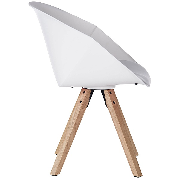 Piko White Tub Chair