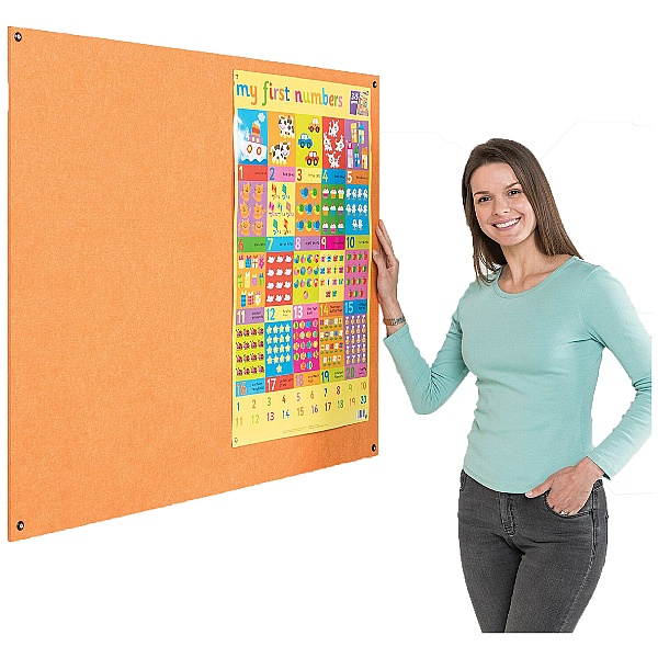 Eco-Colour Frameless Resist-A-Flame Noticeboards