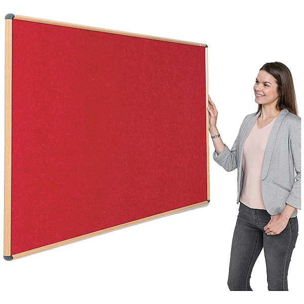Shield Wood Effect Eco-Colour Noticeboards
