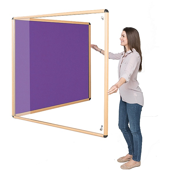 Shield Wood Effect Eco-Colour Tamperproof Noticeboards