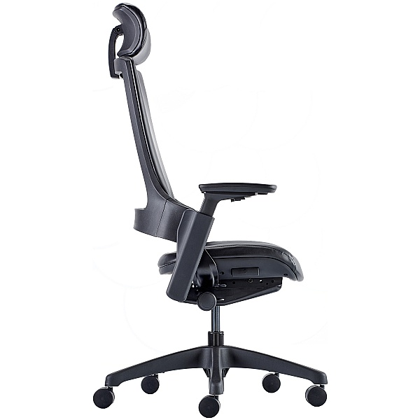 Lucas High Back Leather Task Chair With Headrest