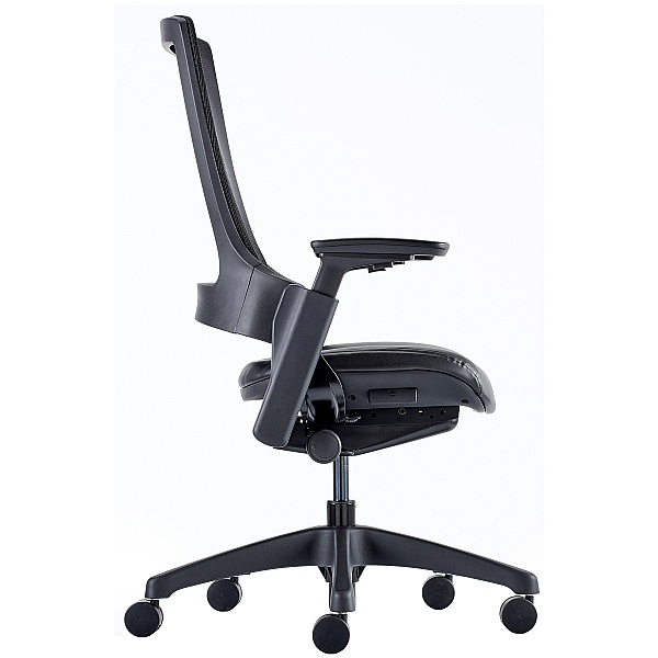 Lucas Mesh Back Leather Seat Task Chair