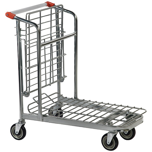 Palletower Nestable Stock Trolley With Folding Shelf