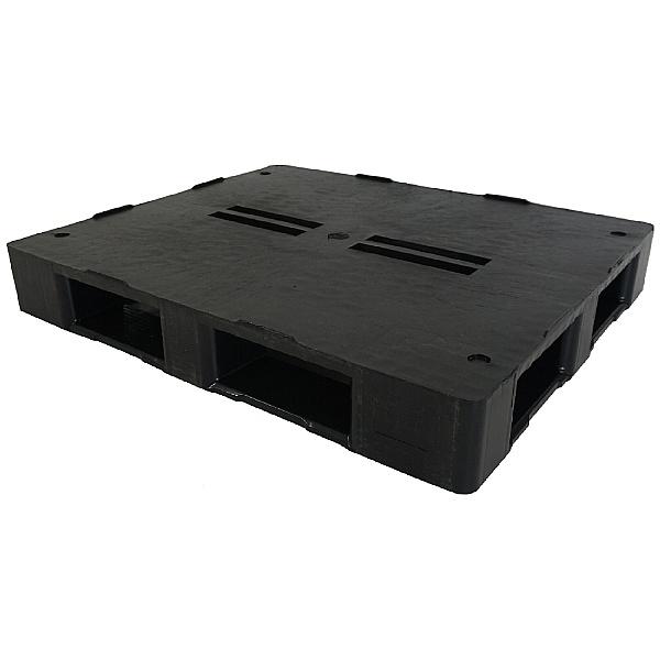 Palletower Rackable Plastic Pallet - Black