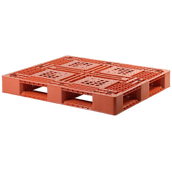 Palletower Rackable Plastic Pallet - Red