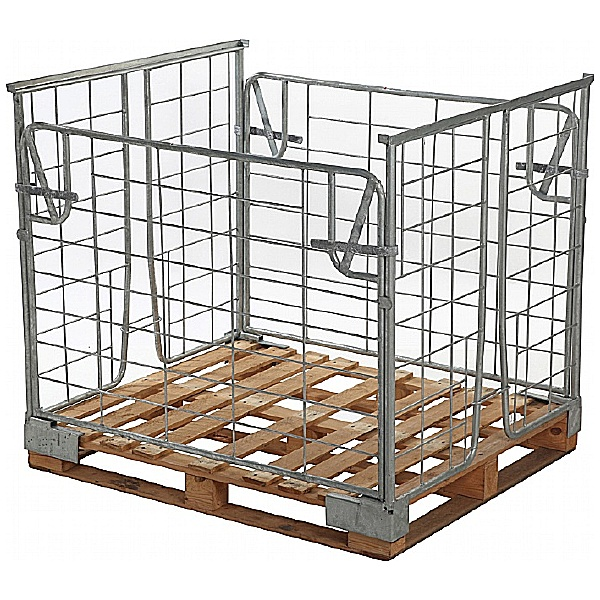 Palletower Galvanised Stackable Retention Units With 2 Removable Gates