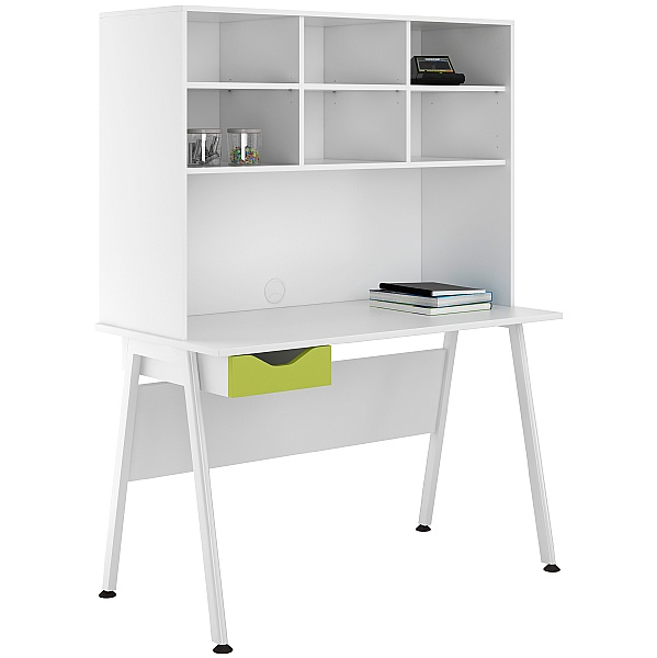 NEXT DAY Aspire Kaleidoscope Single Drawer Desks With Open Storage