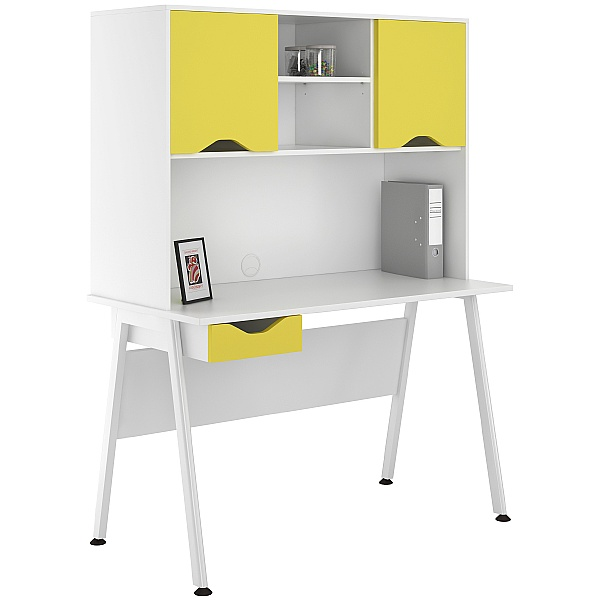 NEXT DAY Aspire Kaleidoscope Single Drawer Desks With Closed Storage