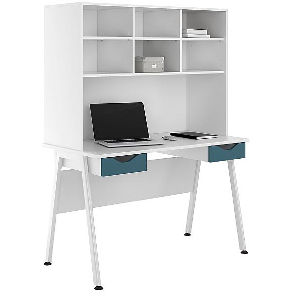NEXT DAY Aspire Kaleidoscope Double Drawer Desks With Open Storage