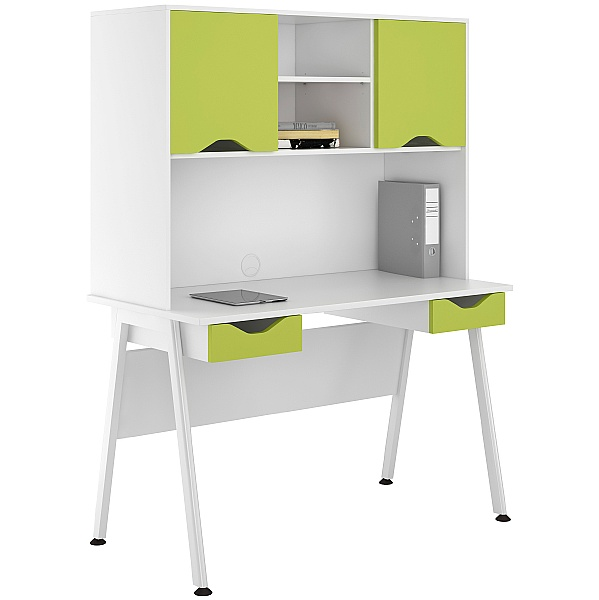 NEXT DAY Aspire Kaleidoscope Double Drawer Desks With Closed Storage