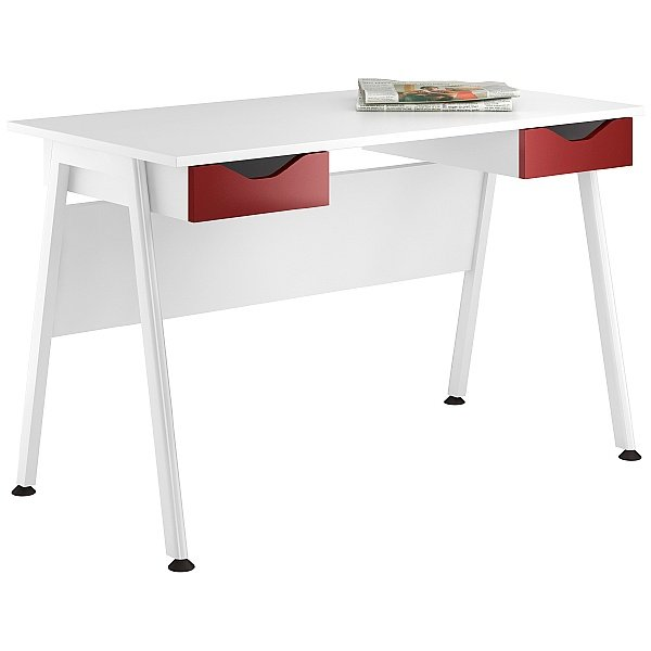 NEXT DAY Aspire Reflections Double Drawer Desks