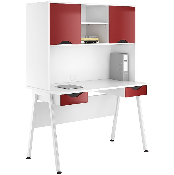 NEXT DAY Aspire Reflections Double Drawer Desks With Closed Storage