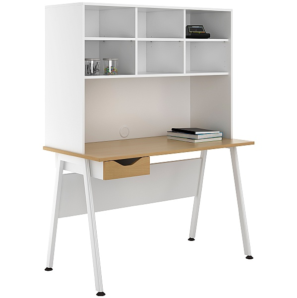 NEXT DAY Aspire Sylvan Single Drawer Desks With Open Storage
