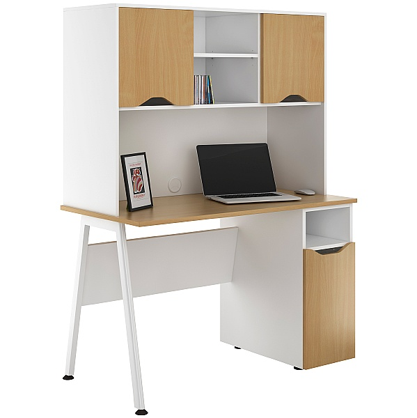 NEXT DAY Aspire Sylvan Pedestal Desks With Closed Storage