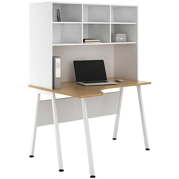 NEXT DAY Aspire Sylvan Corner Desks With Open Storage