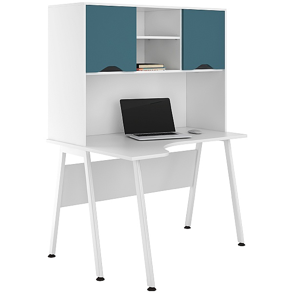 NEXT DAY Aspire Kaleidoscope Corner Desks With Closed Storage