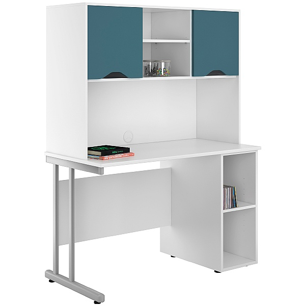 NEXT DAY Create Kaleidoscope Open Pedestal Desks With Closed Storage